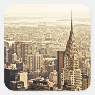 New York City - Chrysler Building Square Sticker