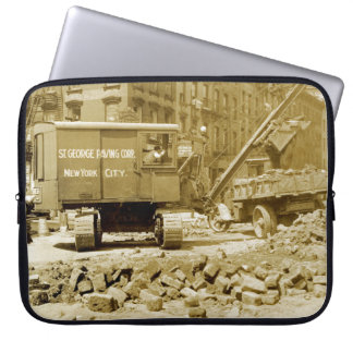 New York City Construction Crane 1920's Northwest Laptop Sleeve