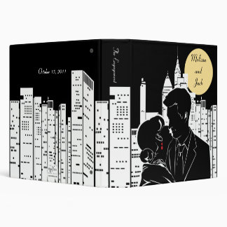 New York City Couple Silhouette Binder