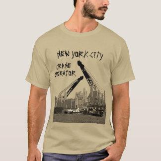 New York City Crane Operator 1930's Skyline Comic T-Shirt