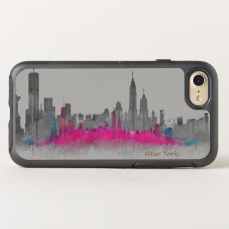 New York City Double skyline B/W - Colorful. NYC OtterBox Symmetry iPhone 8/7 Case