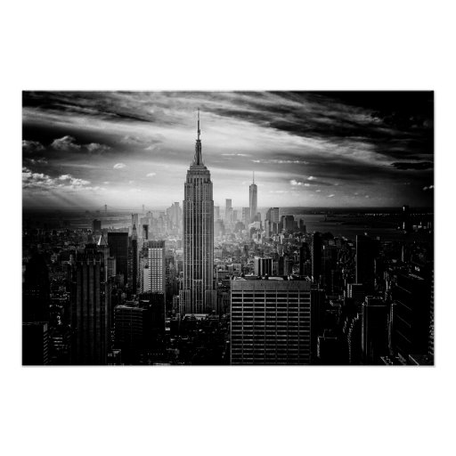 New York City Empire State Building Poster