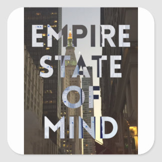 new-york-city-empire-state-of mind square sticker