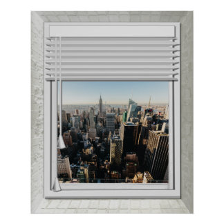 New York City Fake Window View Poster