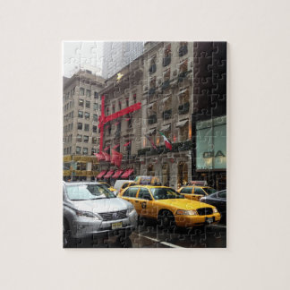 New York City Fifth Avenue Taxi Photography NYC Jigsaw Puzzle