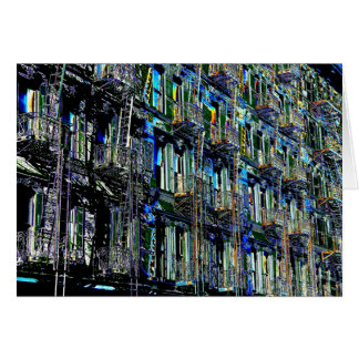 New York City Fire Escapes Pop Art, Blank Inside Card