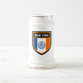 New York City Flag Beer Stein