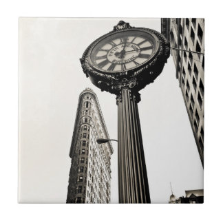 New York City - Flatiron Building and Clock Tile
