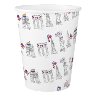 New York City Fourth NYC 4th of July Patriotic Cup Paper Cup