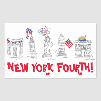 New York City Fourth NYC July 4th Patriotic USA Sticker