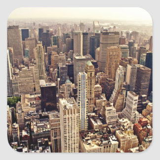 New York City From Above Square Sticker