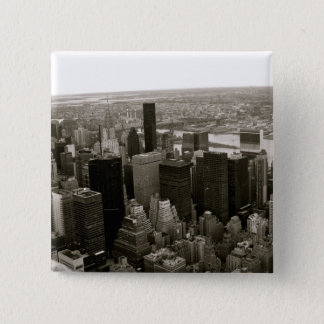 New York City from the Empire State Building 2 Inch Square Button