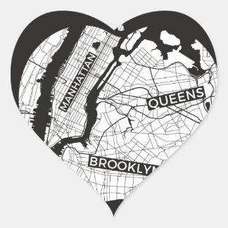 New York City gifts, NYC, Brooklyn ,Queens,Bronx Heart Sticker