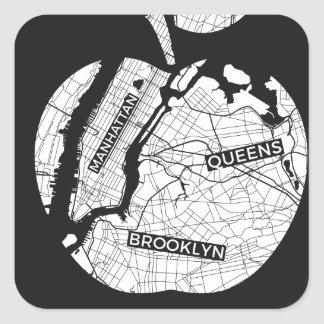 New York City gifts, NYC, Brooklyn ,Queens,Bronx Square Sticker