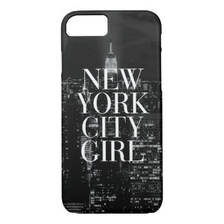 New York City Girl Black White iPhone 7 Case