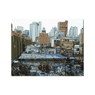 New York City Graffiti Canvas Print
