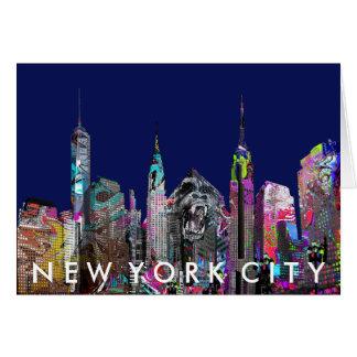 New York City graffiti Card