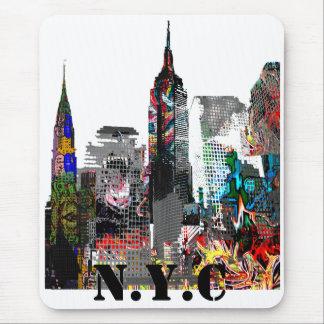 New York City graffiti skyline Mouse Pad