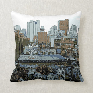 New York City Graffiti Throw Pillow