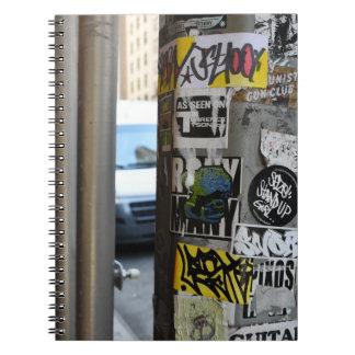 New York City Gritty Urban Street Art Photography Notebook