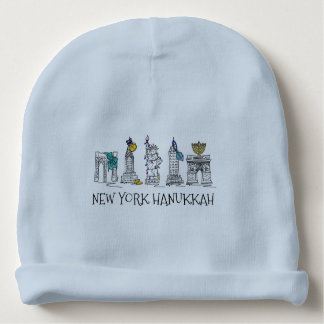 New York City Hanukkah NYC Jewish Holiday Chanukah Baby Beanie