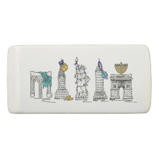 New York City Hanukkah NYC Jewish Holiday Chanukah Eraser
