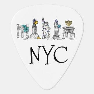 New York City Hanukkah NYC Jewish Holiday Chanukah Guitar Pick