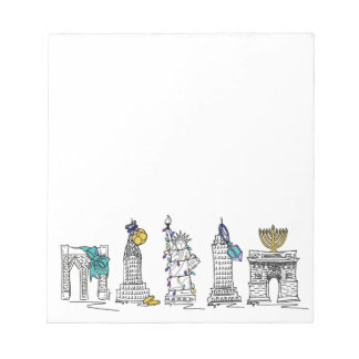 New York City Hanukkah NYC Jewish Holiday Chanukah Notepad
