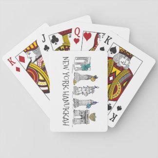 New York City Hanukkah NYC Jewish Holiday Chanukah Poker Deck