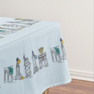 New York City Hanukkah NYC Jewish Holiday Chanukah Tablecloth