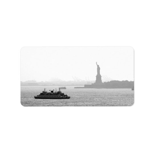 New York City Harbour - Statue of Liberty Label