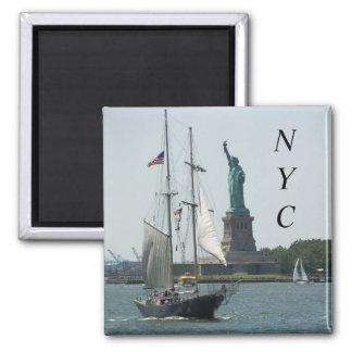 New York City Harbour Travel Photo Magnet