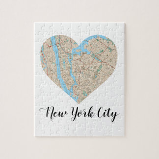 New York City Heart Map Puzzle