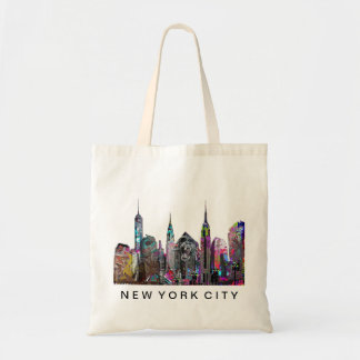 New York City in graffiti Tote Bag
