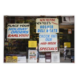 New York City Kosher Deli Windows Photography NYC Photo Print