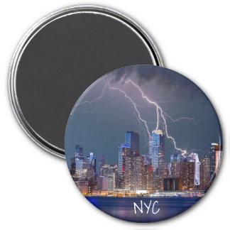 New York City lighting storm Magnet