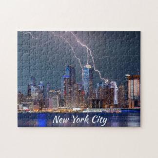 New York City Lightning Storm Jigsaw Puzzle