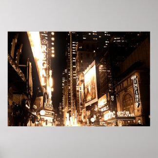 new york city lights poster
