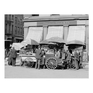 New York City Lunch Carts, 1906 Postcard