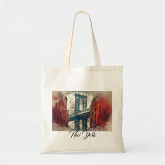 New York City Manhattan Bridge Tote Bag