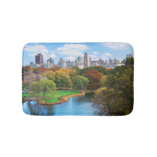 New York City Manhattan Central Park Panorama Bath Mat