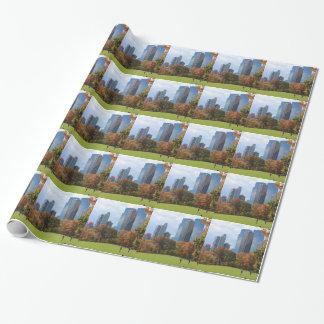 New York City Manhattan skyline panorama viewed fr Wrapping Paper