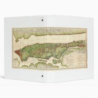 New York City Map During Revolutionary Map 1878 Vinyl Binder
