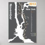 New York City Marathon Map Print