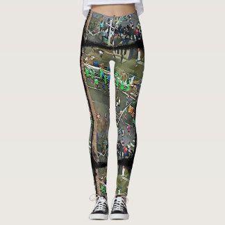 New York City Marathon Runners 2017 Leggings