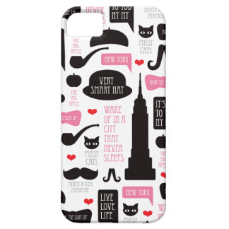 New York City mustache vintage pattern iPhone 5 Cases
