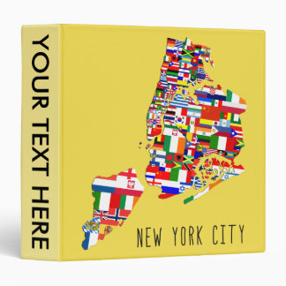 New York City Neighborhood Flags 3 Ring Binder