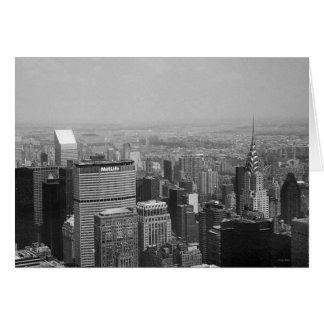 New York City, New York Manhattan Black and White Greeting Card