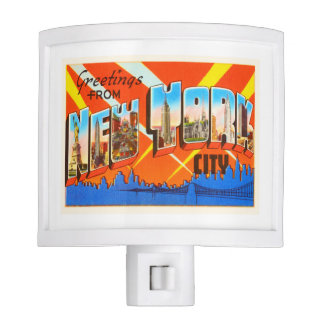 New York City New York NY Vintage Travel Souvenir Night Lites