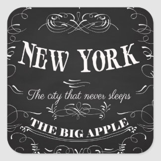 New York City New York-The City That Never Sleeps Square Sticker